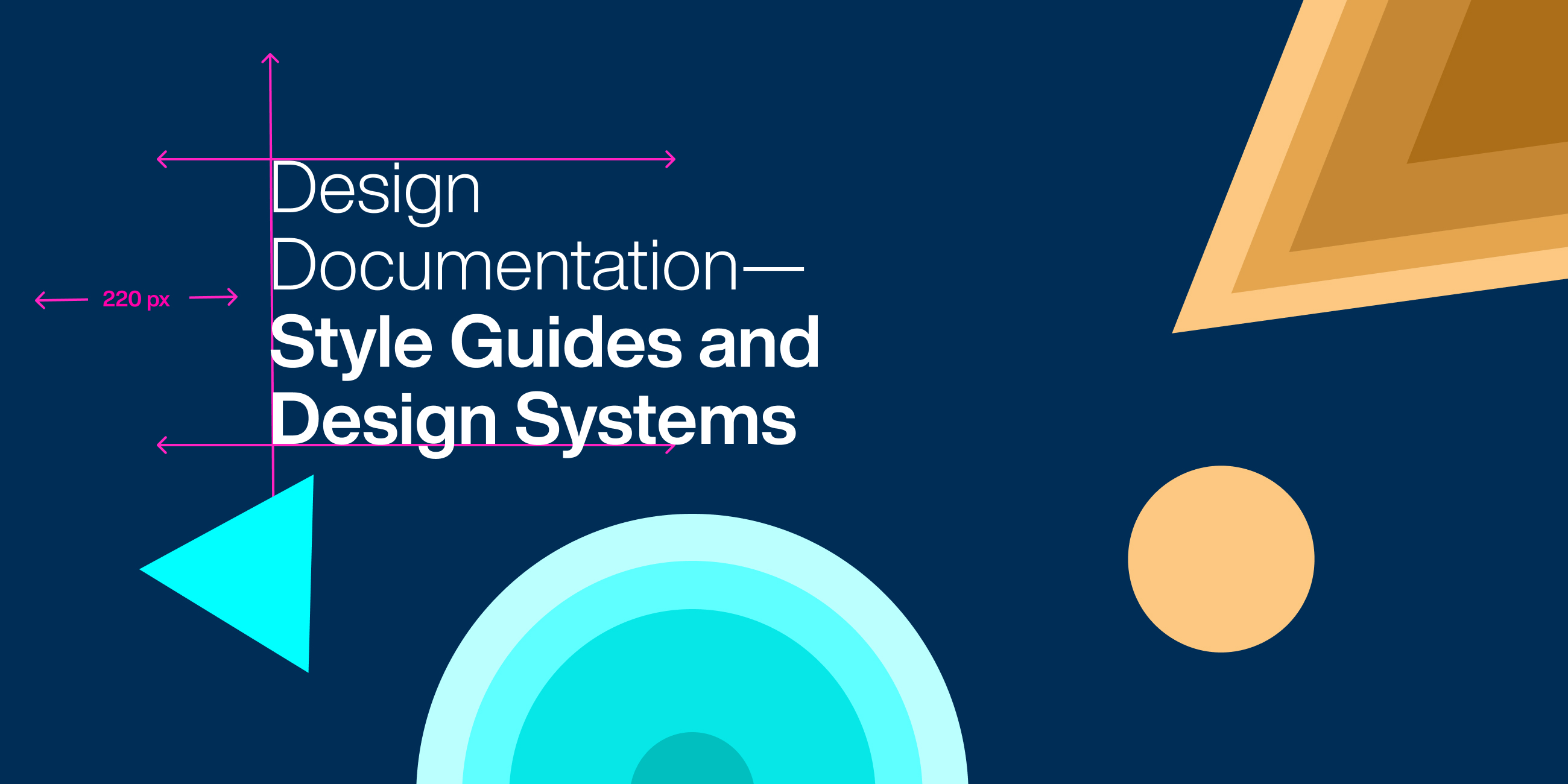 Cover photo for the blog - documentation of style guide and design system