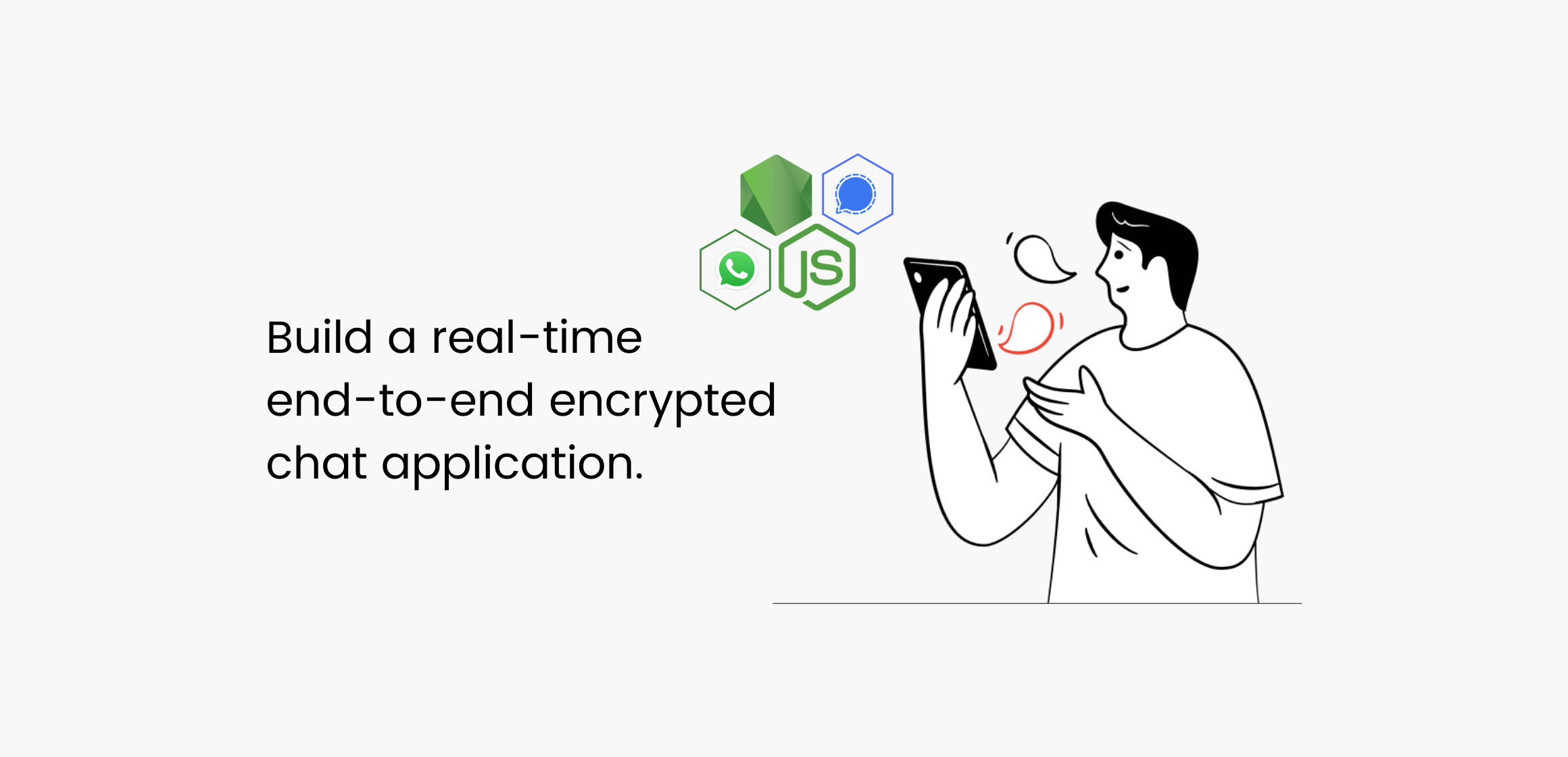 End-to-end encrypted chat application