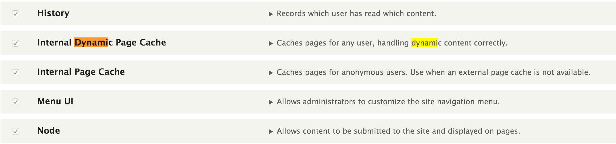 Dynamic Page cache