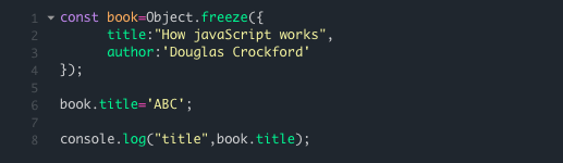 Object.freeze()
